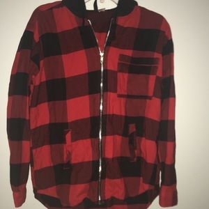 Soft flannel hoodie
